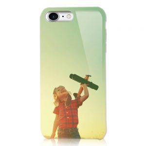 iPhone8<br/>白ケース(表面のみ印刷)