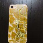 iPhone8<br/>グリッターケース