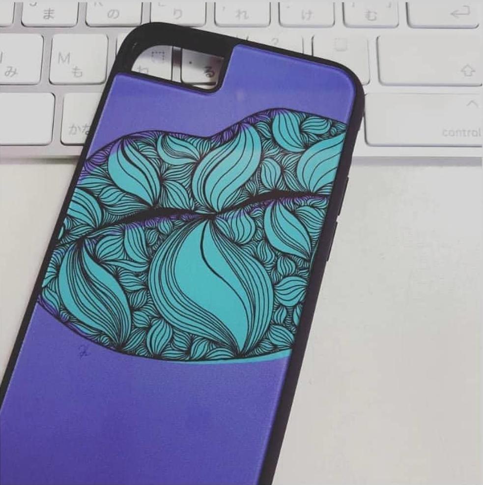 iPhoneプリントパネルラバーケースデザイン例1
