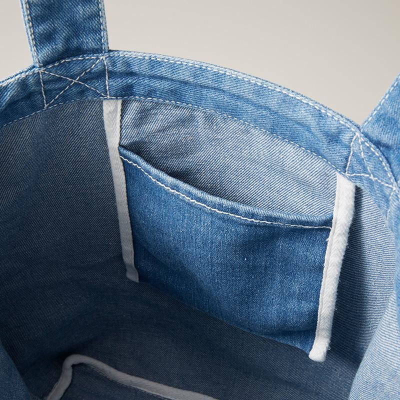 デニム トートバッグ 内ポケット
