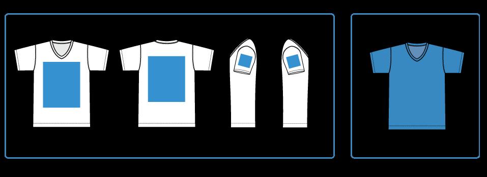 Tシャツで可能な印刷範囲