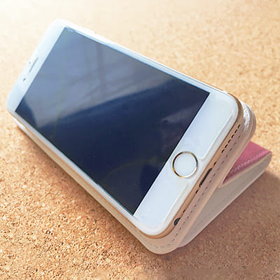 オリジナル【iPhone/Android共用】手帳型スマホケース(ベルトなし)汎用マルチスライド式パーツLL slim