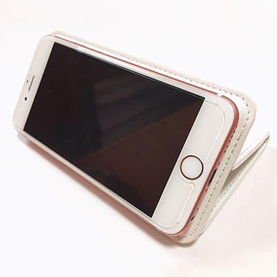 オリジナル【iPhone/Android共用】手帳型スマホケース(ベルトなし)(高級本革シープスキン)M