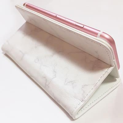 オリジナル【iPhone/Android共用】手帳型スマホケース(ベルトなし)(高級本革シープスキン) L