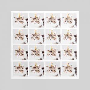ホワイトフレークシール(正方形16枚)160×160mm