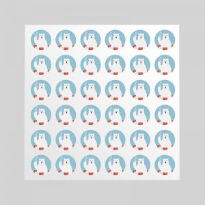 ホワイトフレークシール(円型36枚)100×100mm