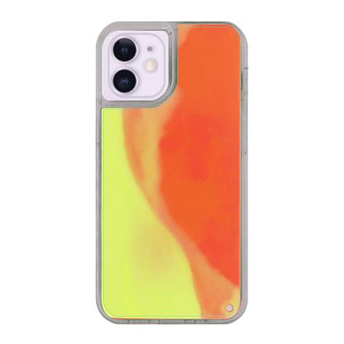 オリジナルiPhone12miniネオンサンドケース