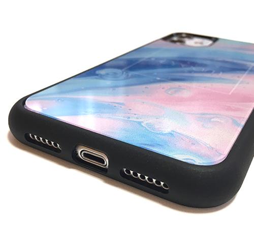 オリジナルiPhone12ProMaxプリントパネルラバーケース