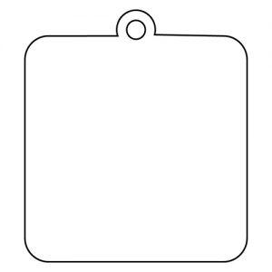 四角型アクリルキーホルダー(6cm)