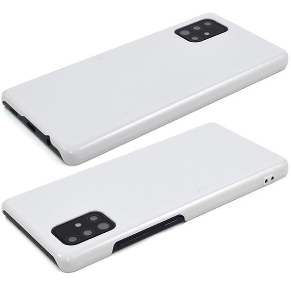 オリジナルGalaxy A51 5Gケース(表面のみ印刷)白/黒