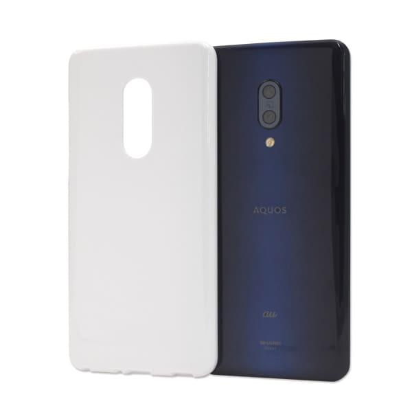 オリジナルAQUOS zero2 (SH-01M/SHV47/906SH)ケース(表面のみ印刷)白/黒