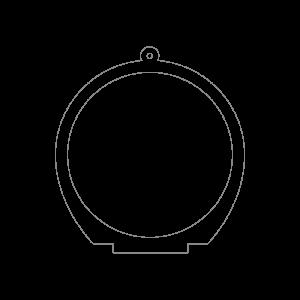 50×50mm アクリルキースタンド(円形)